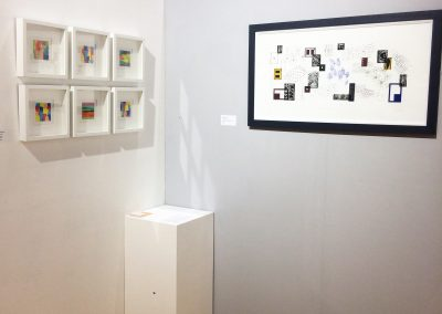Overview of my work in the gallery space at Craft in the Bay